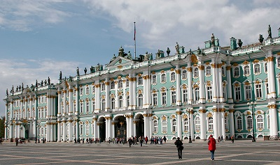 The Winter Palace, also called The Hermitage, houses a huge number of pieces of Western art.